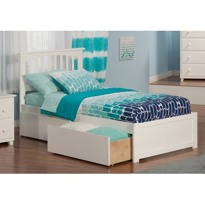 Georgia Extra Long Twin Slat Bed Finish: White