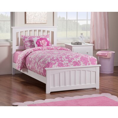 Rhonda Panel Bed Size: Twin, Finish: White