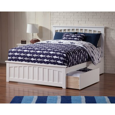 Rhonda Storage Platform Bed Size: Twin, Finish: White
