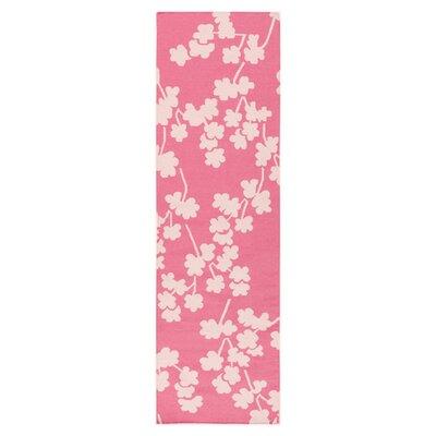 Gilda Flamingo Hand-Woven Pink Area Rug Rug Size: Runner 26 x 8