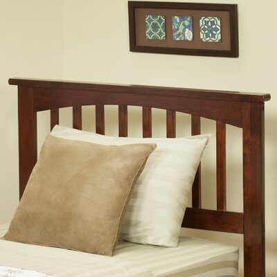 Piper Slat Headboard Finish: Antique Walnut, Size: Full