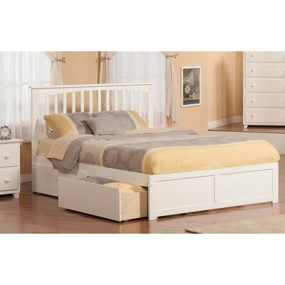 Piper Storage Platform Bed Size: Queen, Finish: White