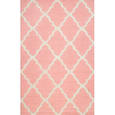 Kristen Baby Pink Area Rug Rug Size: 5 x 8