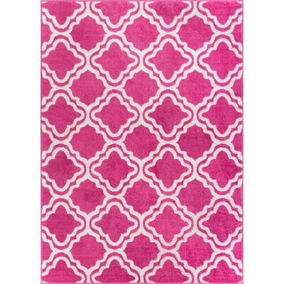 Juliet Calipso Pink Area Rug Rug Size: 5 x 7