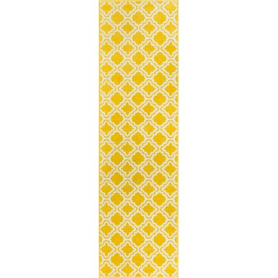 Juliet Calipso Yellow Area Rug Rug Size: Runner 2 x 73