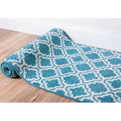 Juliet Calipso Blue Area Rug Rug Size: 33 x 5
