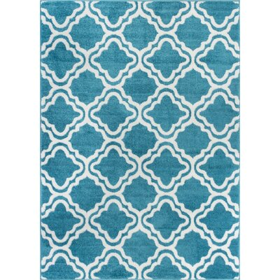 Juliet Calipso Blue Area Rug Rug Size: 5 x 7