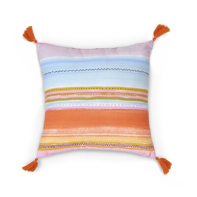 Elaine Square Stripe Throw Pillow