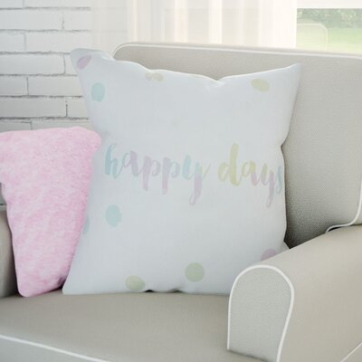 Gianna Indoor/Outdoor Throw Pillow Size: 20 H x 20 W x 4 D, Color: White/Yellow