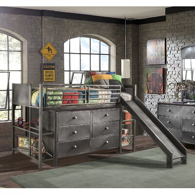 Florence Twin Low Loft Bed with Slide