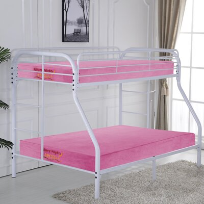 Krysten Twin over Full Bunk Bed Color: White