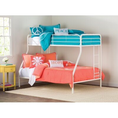 Maryanne Twin Over Full Bunk Bed Color: White