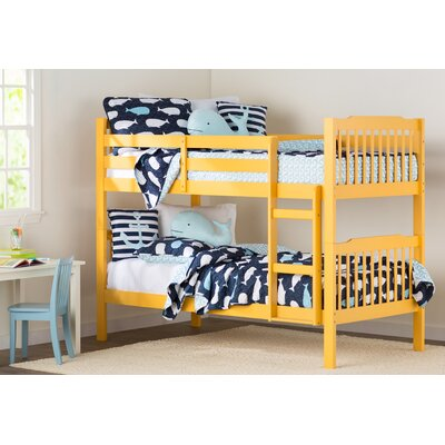 Theodore Twin Bunk Bed Color: Banana Yellow