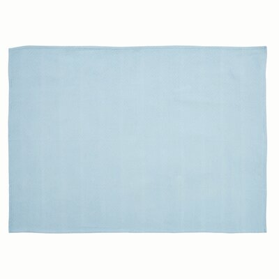 Milner Baby Blanket Color: Medium Blue