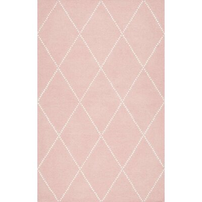 Nat Diamond Hand-Tufted Baby Pink Area Rug Rug Size: Rectangle 4 x 6