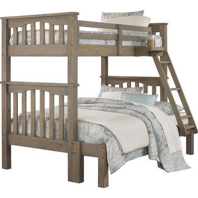 Gisselle Twin over Full Bunk Bed Size: Twin over Full, Finish: Driftwood