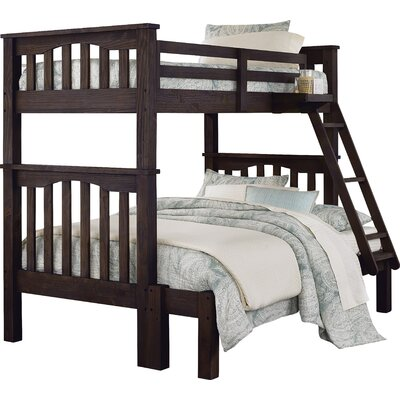 Gisselle Twin over Full Bunk Bed Size: Twin over Full, Finish: Espresso