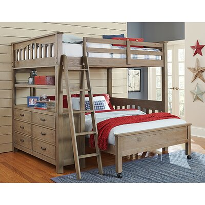 Gisselle Loft Bed Size: Full, Color: Driftwood