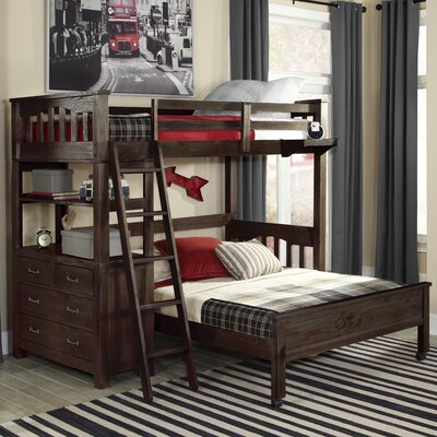 Gisselle Loft Bed Size: Twin, Color: Espresso