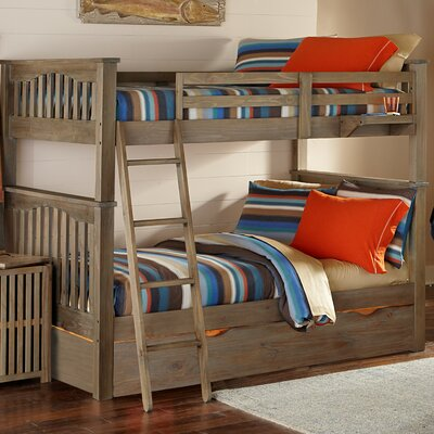 Gisselle Bunk Bed Size: Twin over Twin, Finish: Driftwood