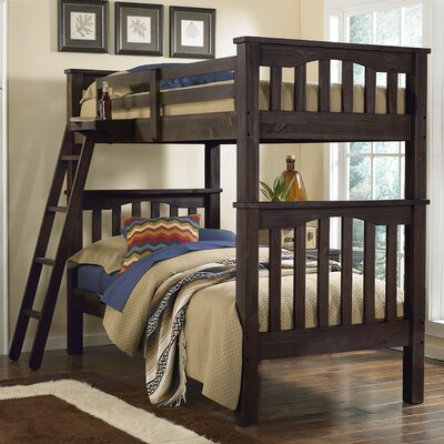Gisselle Bunk Bed Size: Twin over Twin, Finish: Espresso
