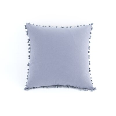 Terrence Pompom Decorative Throw Pillow Color: Storm Gray