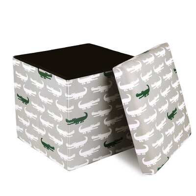 Katelyn Alligator Covered Collapsible Storage Ottoman