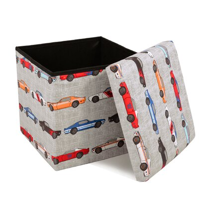 Kathie Race Cars Covered Collapsible Ottoman