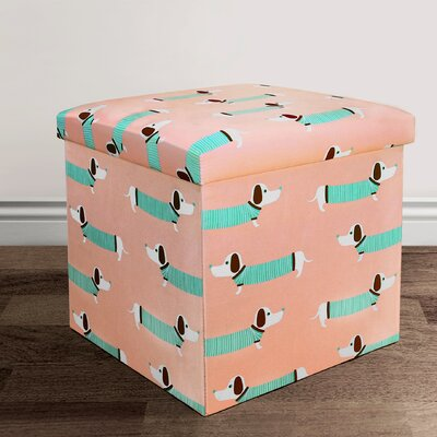 Kathrine Sausage Dog Covered Collapsible Storage Ottoman