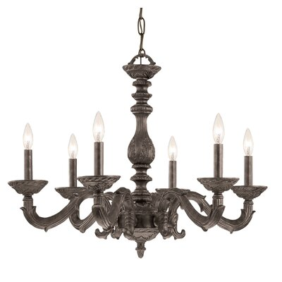 Odessa 6-Light Candle-Style Chandelier Finish: Venetian Bronze
