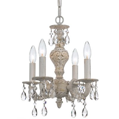 Odessa 4-Light Crystal Candle Chandelier
