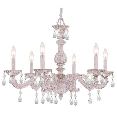 Odessa 6-Light Candle-Style Chandelier Finish: Antique White