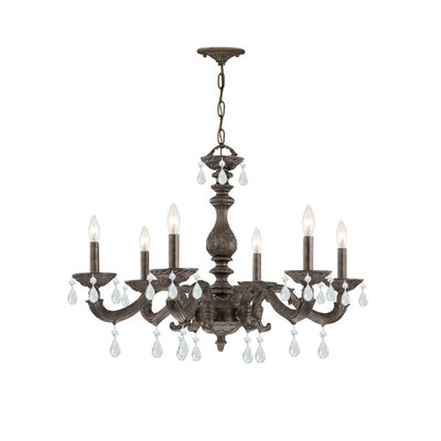 Odessa 6-Light Crystal Chandelier Crystal Type: Swarovski Spectra, Finish: Venetian Bronze