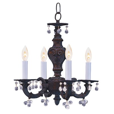 Odessa 4-Light Candle Chandelier Crystal Color: Clear