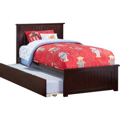 Bermuda Platform Bed with Trundle Size: Twin, Color: Espresso