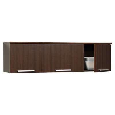 Oleanna Wall-Mounted Display Stand Finish: Espresso