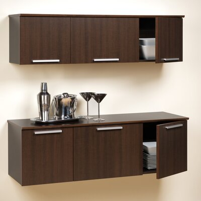 Oleanna Wall-Mounted Display Stand Color: Espresso