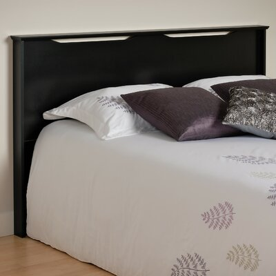 Oleanna Wood Full/Queen Headboard Color: Black