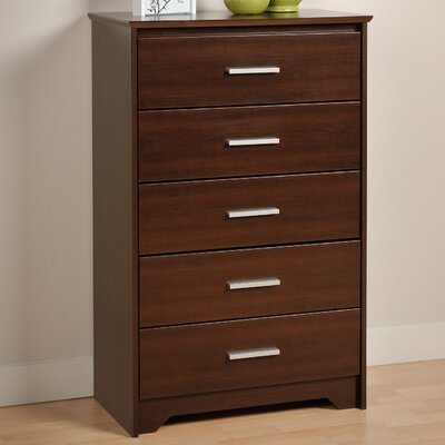 Oleanna 5 Drawer Wood Chest Color: Espresso