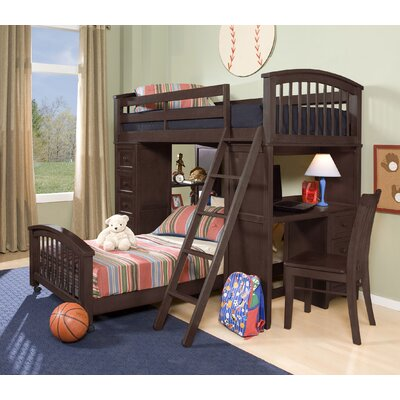 Javin Student Loft Lower Bed with Mattress Finish: Chocolate