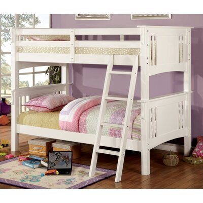 Glenn Twin Bunk Bed Color: Oak, Size: Twin over Twin