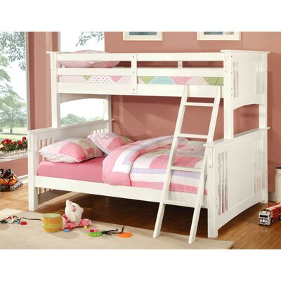 Glenn Twin Bunk Bed Color: White, Size: Twin over Full