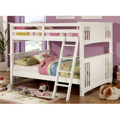 Glenn Twin Bunk Bed Color: Oak, Size: Full over Ful
