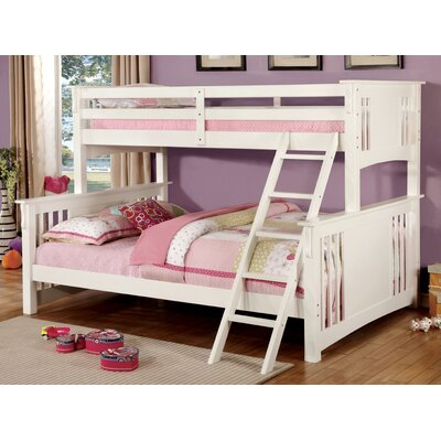 Glenn Twin Bunk Bed Color: White, Size: Twin over Queen