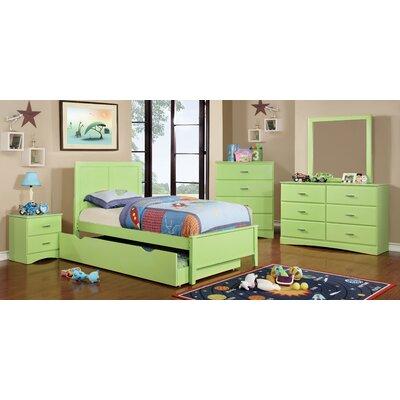 Alejandra Twin Trundle Color: Pistachio Green