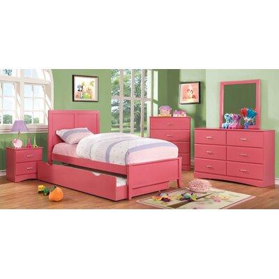 Alejandra Twin Trundle Color: Raspberry Pink