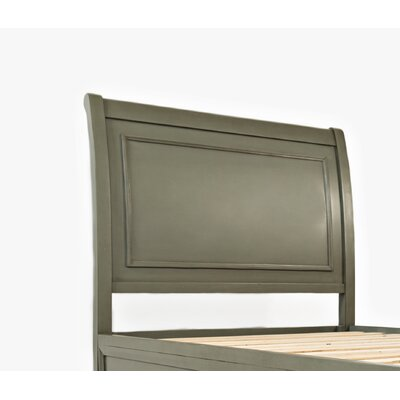 Hugo Wood Panel Headboard Color: Grey, Size: Queen