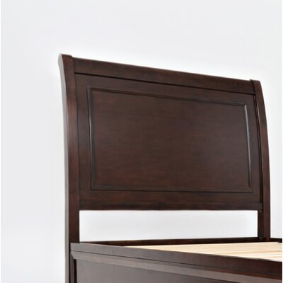 Glenburn Wood Panel Headboard Color: Birch Cherry, Size: Twin