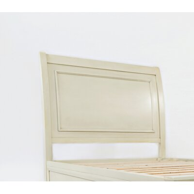 Glenburn Wood Panel Headboard Color: Ivory, Size: Twin