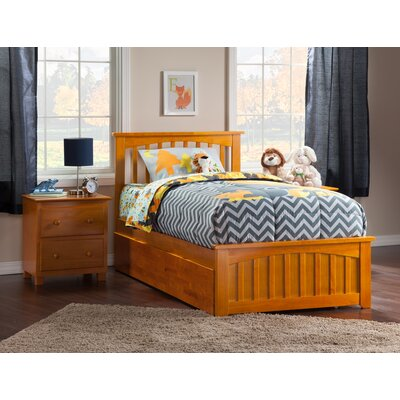 Gail Platform Bed with Trundle Size: Twin, Finish: Caramel Latte